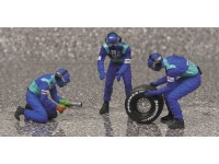 FIGURE 1/18 PIT STOP SAUBER 2002 CAMBIO GOMME POSTERIORE IN RESINA MINICHAMPS