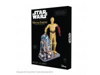 MODELLINO STAR WARS C-3PO & R2-D2 DELUXE SET IN KIT DI METALLO METAL EARTH