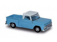 MODELLINO CHEVROLET STEPSIDE PICK-UP 1957 BLU IN PLASTICA BUSCH
