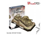 CUBICFUN MODELLINO CARRO ARMATO U.S. M4A4 SHERMAN IN PUZZLE 3D