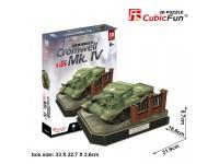 CUBICFUN MODELLINO CARRO ARMATO CROMWELL MK.IV IN PUZZLE 3D