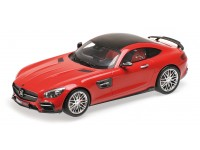MODEL 1/18 BRABUS 600 AUF BASED ON THE MERCEDES BENZ AMG GT S 2015 RED RESIN MINICHAMPS