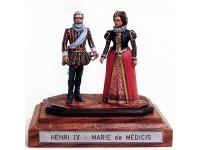 Coppia figurini Enrico IV e Maria de' Medici Le Cimier