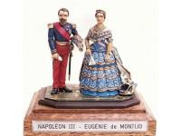 Coppia figurini Napoleone III e Eugenia de Montijo Le Cimier