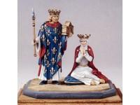 Coppia figurini Luigi IX e Margherita di Provenza Le Cimier