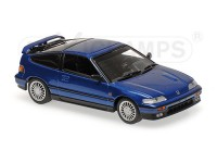 MODELLINO HONDA CR-X COUPE' 1989 BLU METALLIZZATO IN METALLO MINICHAMPS