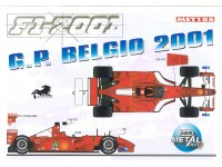 KIT FERRARI F2001 GP BELGIO BBR MODELS