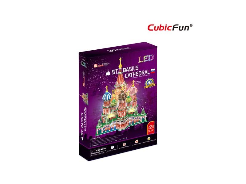 CUBICFUN MODELLINO CATTEDRALE DI SAN BASILIO CON LED IN PUZZLE 3D
