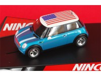 Ninco Mini Cooper Stars & Stripes Modellino Auto Slot