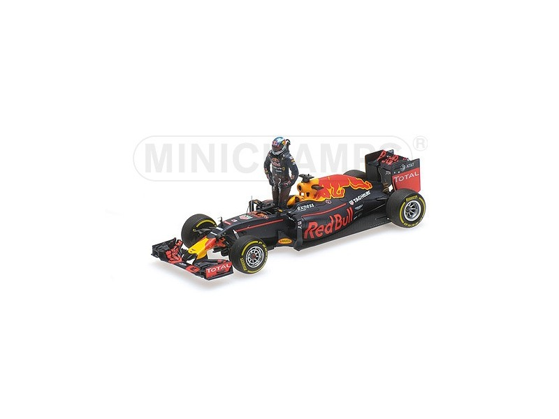 MODELLINO 1/43 RED BULL RB12 RICCIARDO GP AUSTRIA 2016 WITH FIGURINE MINICHAMPS