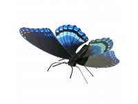MODELLINO FARFALLA RED SPOTTED PURPLE IN KIT DI METALLO 3D METAL EARTH