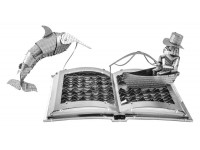MODELLINO IL VECCHIO E IL MARE IN KIT DI METALLO 3D METAL EARTH