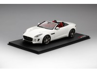 MODELLINO JAGUAR F-TYPE R CONVERTIBLE POLARIS WHITE TSM MODEL