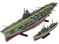 Revell HMS Ark Royal and Tribal Class Destroyer kit Modellismo Navale in Plastica