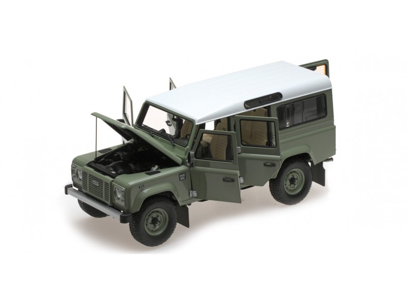 MODELLINO LAND ROVER DEFENDER 110 HERITAGE EDITION 2015 VERDE ALMOST REAL