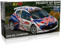 Belkits Peugeot 207 S2000 Ypres Westhoek Rally 2009 Kit di Montaggio