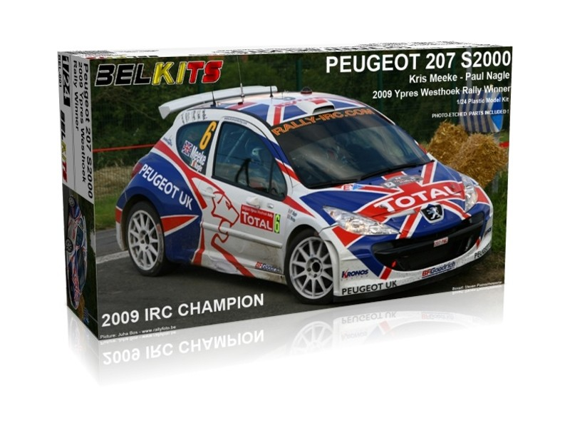 Belkits Peugeot 207 S2000 Ypres Westhoek Rally 2009 Kit di Montaggio