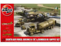 Airfix Eighth Air Force Boeing B-17G & Bomber Re-supply Set Kit Modellismo Militare