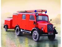 ICM German Light Fire Truck L1500S LF 8 Kit Montaggio Modellismo Militare