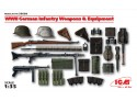 ICM German Infantry Weapons and Equipment Kit Montaggio Modellismo Militare