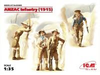 ICM ANZAC Infantry 1915 Kit Montaggio Modellismo Militare