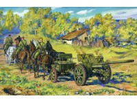 ICM 76,2 mm F-22 with Horse Transport Kit Montaggio Modellismo Militare