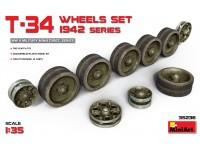 Miniart Set Ruote per T-34 Kit Montaggio Modellismo Militare
