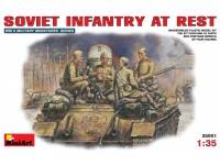 Miniart Fanteria Sovietica a Riposo Kit Montaggio Modellismo Militare