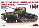 Miniart VALENTINE Mk. VI CANADIAN Kit Montaggio Modellismo Militare