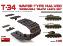 Miniart T-34 WAFER-TYPE HALVED WORKABLE TRACK LINKS SET Kit Montaggio Modellismo Militare