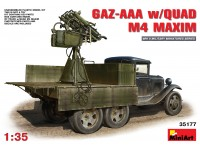 Miniart GAZ-AAA with QUAD M4 MAXIM Kit Modellismo Militare
