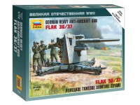 Zvezda German Heavy Anti-Aicraft Gun FLAK 36/37 Kit Modellismo Militare