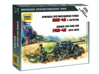 Zvezda Pak 40 Anti-tank Gun with Crew Kit Modellismo Militare