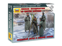 Zvezda German headquarters in winter uniform Kit Montaggio Modellismo Militare