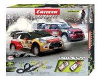 Carrera Pista Elettrica Analogica Rally Action Citroen ds3 wrc vs Mini countryman wrc