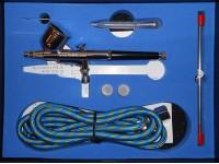 Belkits Set Aerografo a gravita' doppia azione con accessori