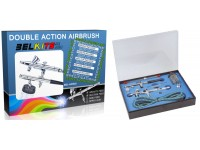 Belkits Set 2 aerografi a doppia azione 1 ad aspirazione ed 1 a gravita'
