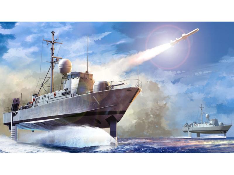 USS PEGASUS PHM-1 KIT DI MONTAGGIO HOBBY BOSS