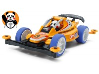 Tamiya Mini 4WD Racing Series Panda Racer Kit di Montaggio