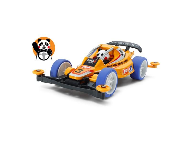 Tamiya Mini 4WD Racing Series Panda Racer Kit di Montaggio