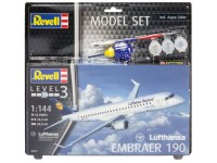 Revell Embraer 190 Lufthansa Model Set con Colori