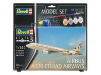 Revell 1/144 Airbus A320 ETIHAD AIRWAYS Model Set con Colori
