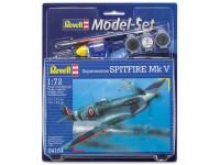 Revell 1/72 Spitfire Mk V Model Set con Colori