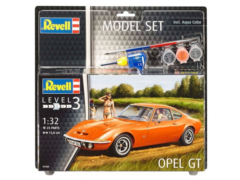 Revell Opel GT Model Set con Colori