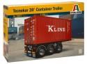 Italeri Semirimorchio Container Tecnokar 20' Modellino in Kit Di Montaggio