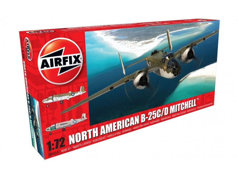 Airfix North American B-25C/D Mitchell Modellino in kit di Montaggio