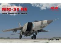 ICM Aereo da Ricognizione Sovietico MiG-25 RB Modellino in kit di Montaggio