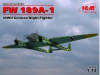 ICM 1/72 FW 189A-1 Modellino in kit di Montaggio
