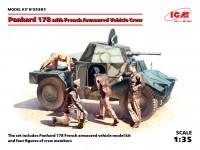 ICM Autoblindo Francese Panhard 178 Modellino in kit di Montaggio