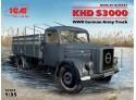 ICM Camion dell'esercito Tedesco KHD S3000 Modellino in kit di Montaggio